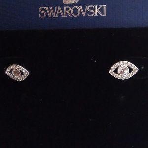 Swarovski New Crystal Eye Stud Earrings